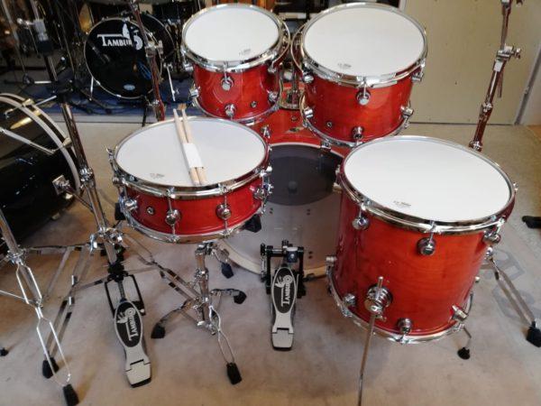 "TAMBURO Schlagzeug ""FORMULA Serie 22"" Standard in CHERRY GLOSS 22/10/12/14+SD+HW"