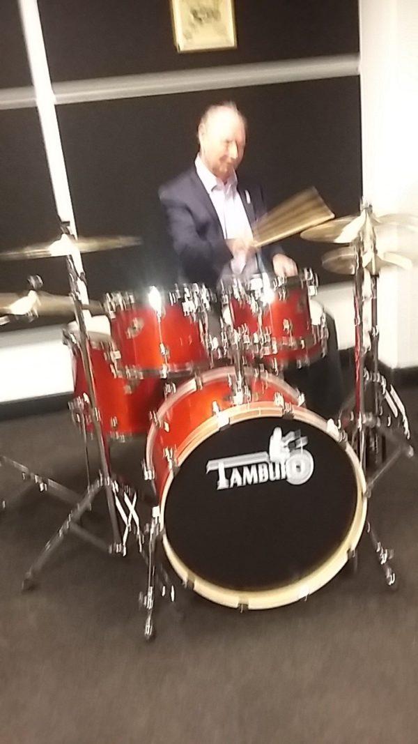 "TAMBURO Schlagzeug ""FORMULA Serie 20"" Standard in CHERRY GLOSS 20/10/12/14+SD+HW"