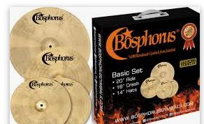BOSPHORUS Traditional Cymbal Set 20 / 16 / 14 + Cymbalbag