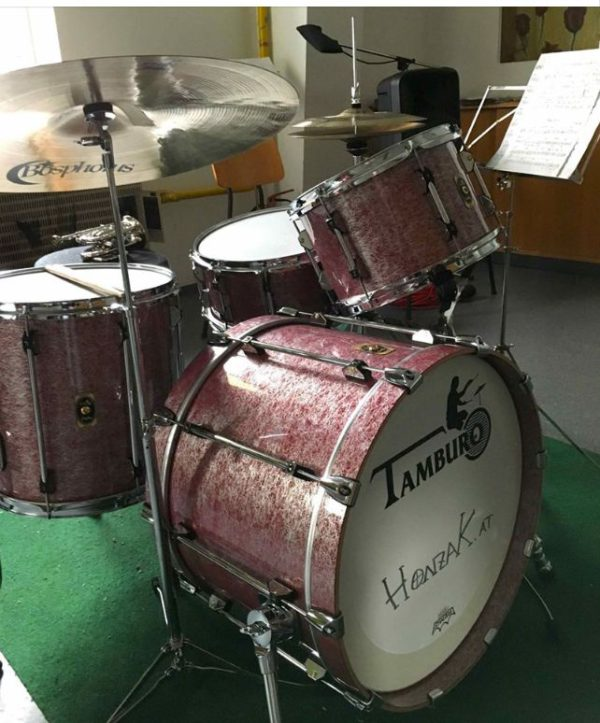TAMBURO Schlagzeug UNIKA Serie 5 teiliges Set in Fantasie Rot