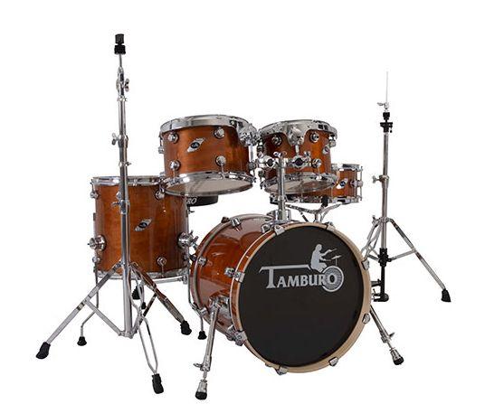 """TAMBURO Schlagzeug """"FORMULA Serie 20"""" Standard in Light Brown 20/10/12/14+SD+HW"""
