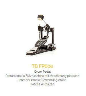 TAMBURO Drum Pedal FP600 mit Kettenzug + Tasche