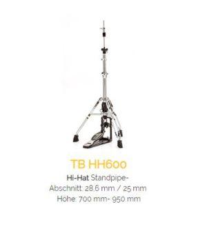 TAMBURO HiHatstand Serie 600 - doppelstrebig extrem massiv