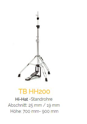 TAMBURO HiHatstand Serie 200 - doppelstrebig