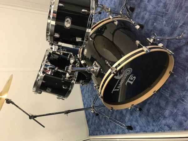 """TAMBURO Schlagzeug """"T5 Serie"""" Master in black sparkle 22/12/13/16+SD+HW+Cymbals"""