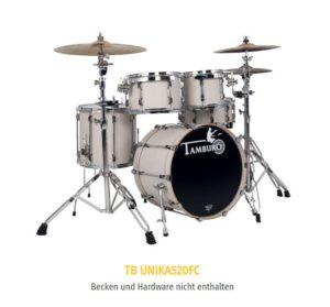 TAMBURO Schlagzeug UNIKA Serie 5 teiliges Set in Flamed Cachmere