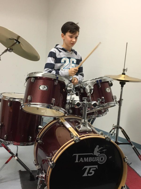 "TAMBURO Schlagzeug ""T5 Serie"" PLUS in red sparkle 20/10/12/14+SD+HW+Cymbals"