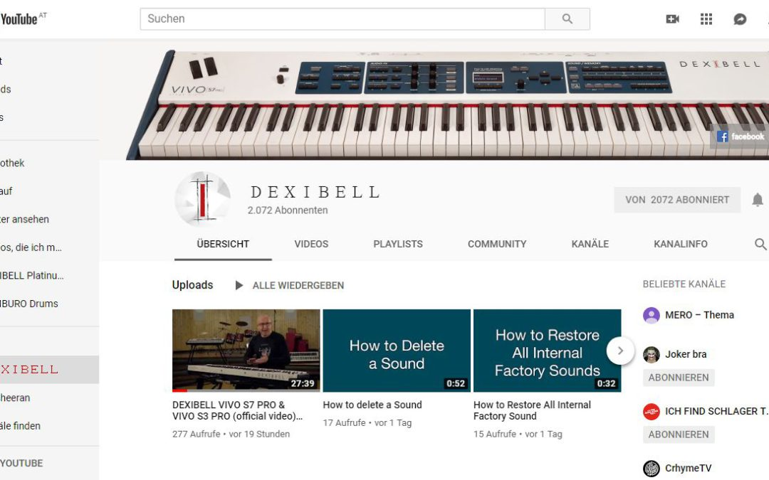 DEXIBELL TUTORIAL Videos – YouTube
