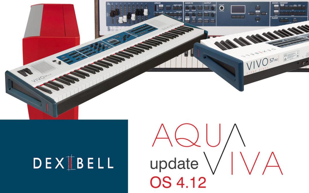 DEXIBELL: Neues Betriebssystem Update OS 4.12